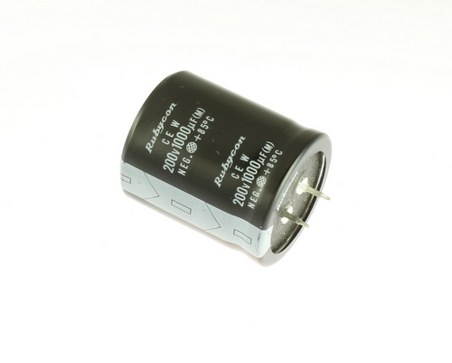 Picture of ER102M200V35X41SNAP RUBYCON capacitor 1,000uF 200V Aluminum Electrolytic Snap In