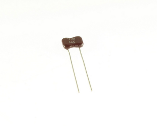Picture of DM15FA121GO3 KEC capacitor 120pF 100V Silver Mica Dipped