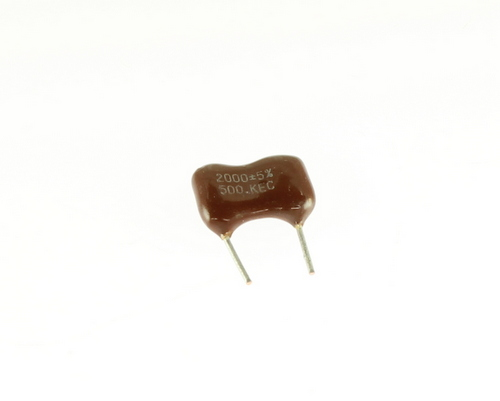 Picture of DM19FD202JO3FL KEC capacitor 0.002uF 500V Silver Mica Dipped