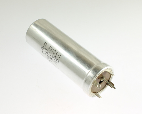 Picture of 41-39103-1 NICHICON capacitor 1,000uF 200V Aluminum Electrolytic Large Can Twist Lock