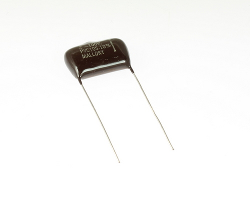 Picture of PVC105 MALLORY capacitor 0.5uF 100V Film Polyester Radial