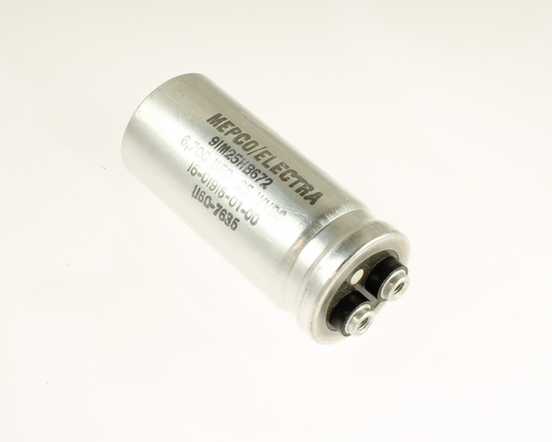 Picture of 91M25HB672 Mepco / Electra capacitor 6,700uF 25V Aluminum Electrolytic Large Can Computer Grade