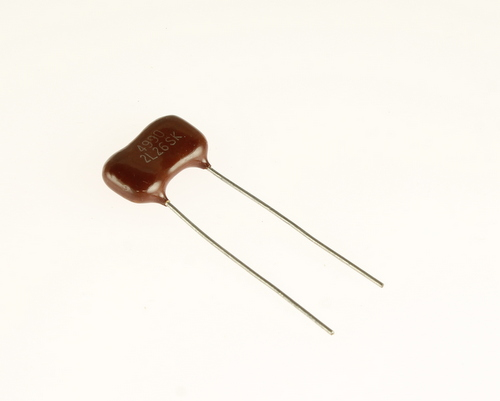Picture of DM20FJ911JO3 EL MENCO capacitor 910pF 2000V Silver Mica Dipped