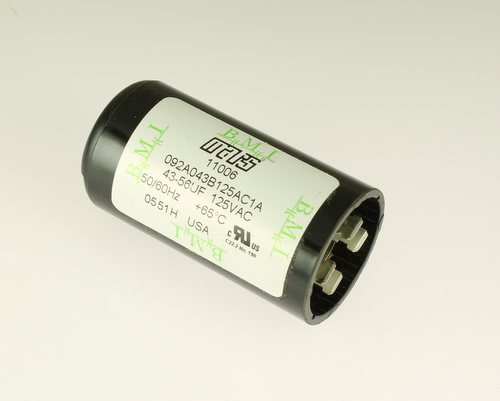 Picture of 092A043B125AC1A BARKER MICROFARADS (BMI) capacitor 43uF 125V Application Motor Start