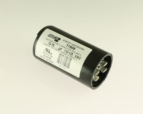 Picture of 61B1D110072ECMS MARS capacitor 72uF 110V Application Motor Start