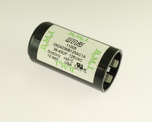 Picture of 092A036B125AC1A BARKER MICROFARADS (BMI) capacitor 36uF 125V Application Motor Start