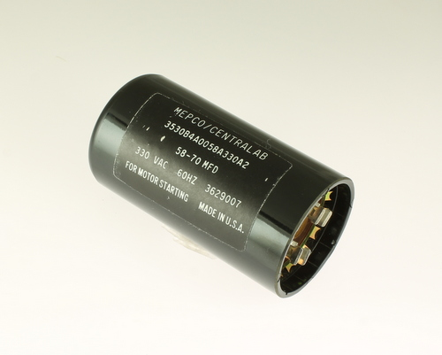 3530B4A0058A330A2 MEPCO/CENTRALAB capacitor 58uF 330V Application