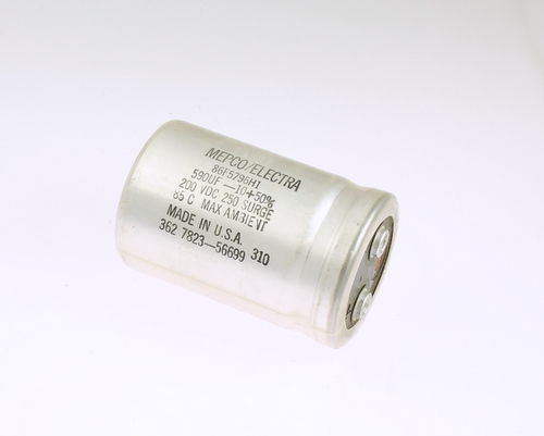 Picture of 86F5796M1 PHILIPS capacitor 590uF 200V Aluminum Electrolytic Large Can Computer Grade
