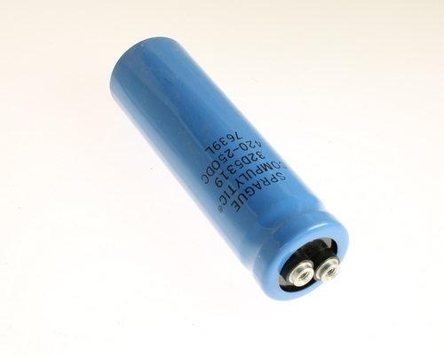 Picture of 32D5319 SPRAGUE capacitor 420uF 250V Aluminum Electrolytic Large Can Computer Grade