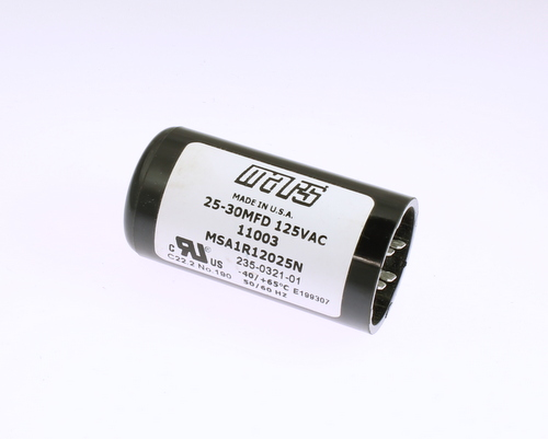 Msa1r12025n Mars Capacitor 25uf 125v Application Motor