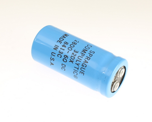 Picture of 32DX282G060AB2A SPRAGUE capacitor 2,800uF 60V Aluminum Electrolytic Large Can Computer Grade High Temp