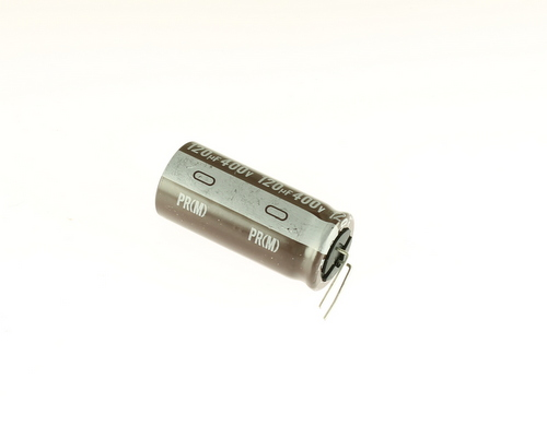 Picture of ER121M400V18X40-105-FL NICHICON capacitor 120uF 400V Aluminum Electrolytic Radial High Temp