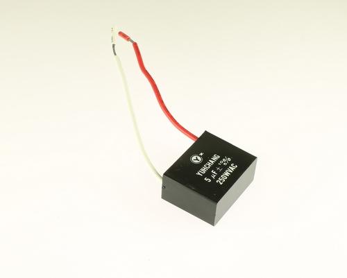 Picture of TC5M250V BYAB capacitor 5uF 250V application motor run