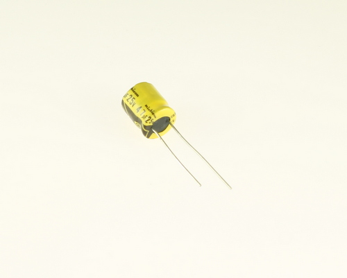Picture of UKB1E470KAA NICHICON capacitor 47uF 25V Aluminum Electrolytic Radial