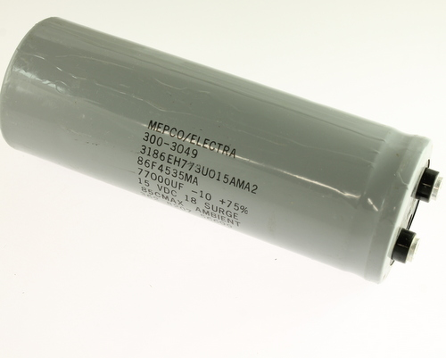 Picture of 3186EH773U015AMA2 PHILIPS capacitor 77,000uF 15V Aluminum Electrolytic Large Can Computer Grade