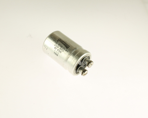 Picture of FAH-3700-25-A1 Cornell Dubilier (CDE) capacitor 3,700uF 25V Aluminum Electrolytic Large Can Computer Grade