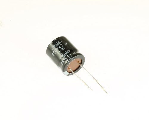 Picture of CEHSM2E470M1T36 MARCON capacitor 47uF 250V Aluminum Electrolytic Radial High Temp