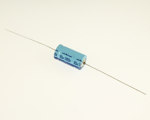 Picture of EA106M300V16X3085 NICHICON capacitor 10uF 300V Aluminum Electrolytic Axial