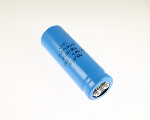Picture of CGE123M30VR4CLP capacitor 12,000uF 30V Aluminum Electrolytic Large Can Computer Grade