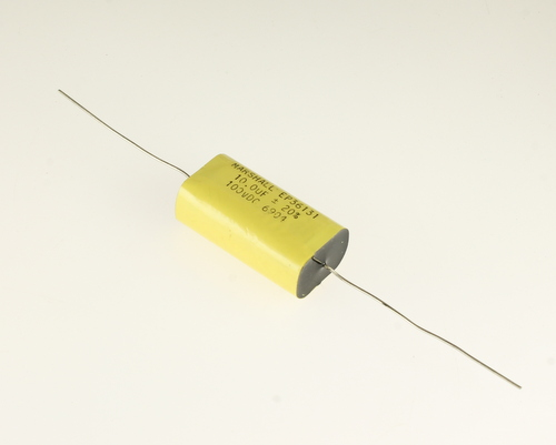 Picture of EP36131 MARSHALL capacitor 10uF 100V Film Polyester Axial