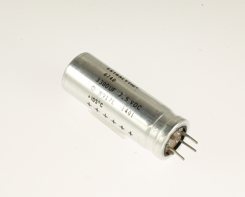 Picture of 674D338F7R5GL1C SPRAGUE capacitor 3,300uF 7.5V aluminum electrolytic radial high temp