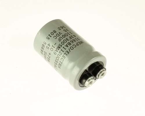 Picture of 3186BA112U035ALA3 PHILIPS capacitor 1,100uF 35V Aluminum Electrolytic Large Can Computer Grade