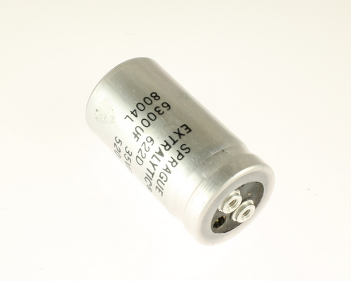 Picture of CGE632M35R2LHP SPRAGUE capacitor 6,300uF 35V Aluminum Electrolytic Large Can Computer Grade