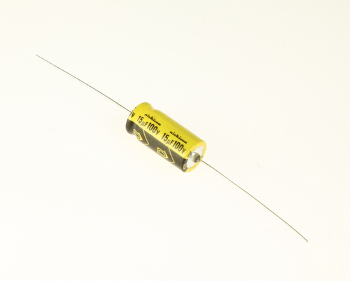 Picture of EA156M100V10X2185 NICHICON capacitor 15uF 100V Aluminum Electrolytic Axial