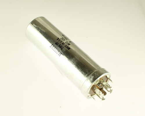 Picture of FP412.144 MALLORY capacitor 5uF 200V Aluminum Electrolytic Large Can Twist Lock