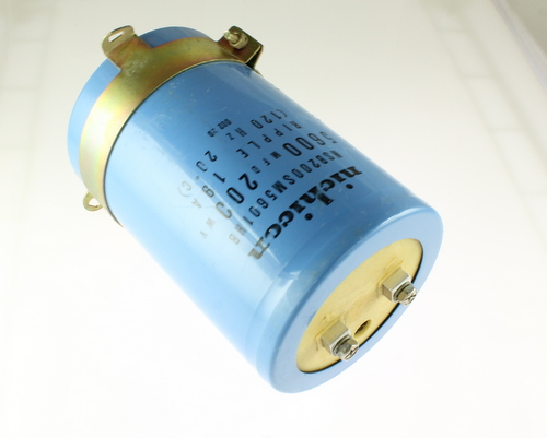 Picture of NSB200SM5601HB NICHICON capacitor 5,600uF 200V Aluminum Electrolytic Large Can Computer Grade