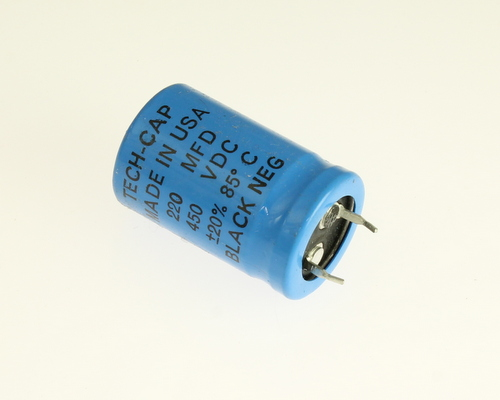 Ers220m450v22x3585 Tech Cap Capacitor 220uf 450v Aluminum