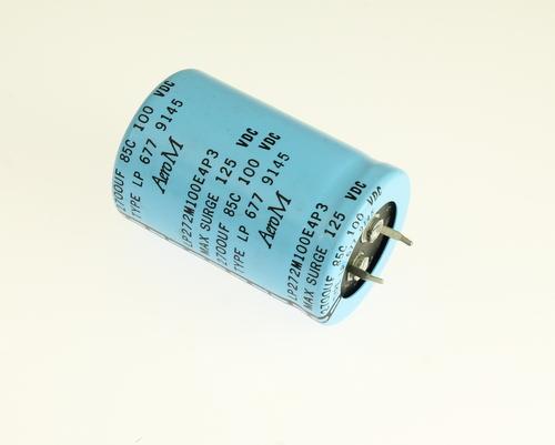 Picture of LP272M100E4P3 AERO-M capacitor 2,700uF 100V Aluminum Electrolytic Snap In