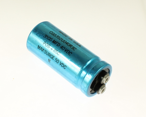 Picture of CGS352U040R3C MALLORY capacitor 3,500uF 40V Aluminum Electrolytic Large Can Computer Grade