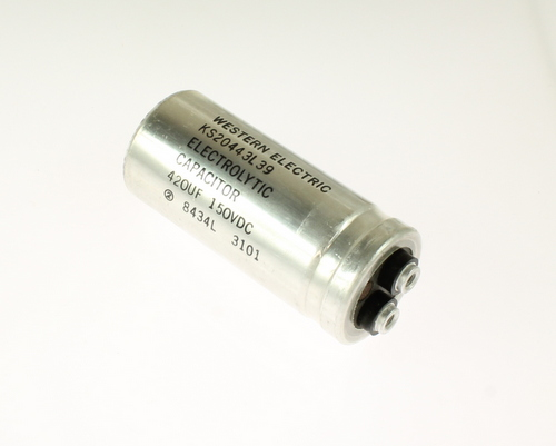 Picture of CGEM421M150R3L WESTERN ELECTRIC / SPRAGUE capacitor 420uF 150V Aluminum Electrolytic Large Can Computer Grade