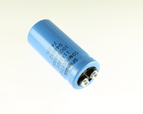 Picture of CGE102M50VR3C SPRAGUE capacitor 1,000uF 50V Aluminum Electrolytic Large Can Computer Grade