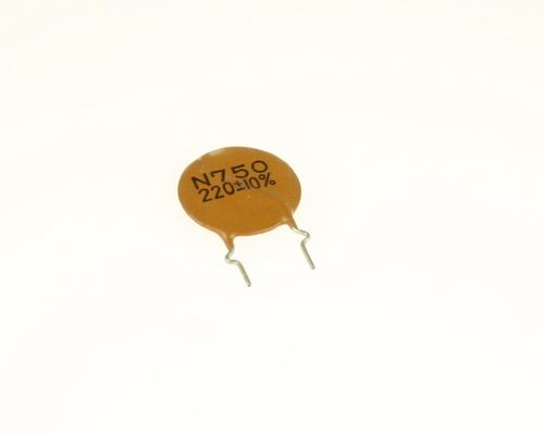 Picture of CD221K50V7 MURATA capacitor 220pF 500V Ceramic Disc