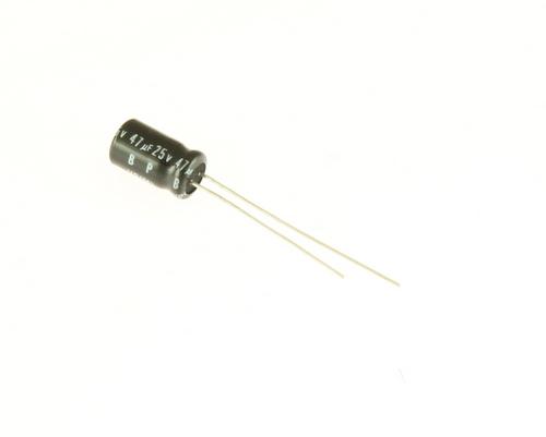 Picture of UVP1E470MDA NICHICON capacitor 47uF 25V Aluminum Electrolytic Radial