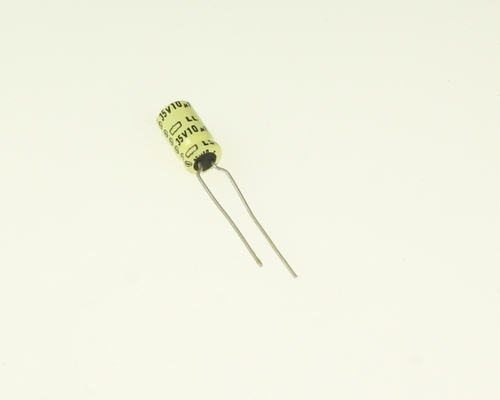 Picture of LL35VB100M UCC capacitor 10uF 35V Aluminum Electrolytic Radial