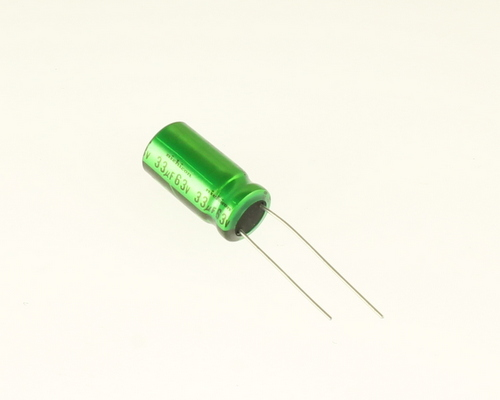 Picture of UPL1J336MPH NICHICON capacitor 33uF 63V Aluminum Electrolytic Radial High Temp