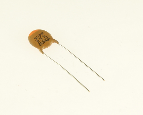 Picture of CD300J500V47 MURATA capacitor 30pF 500V Ceramic Disc