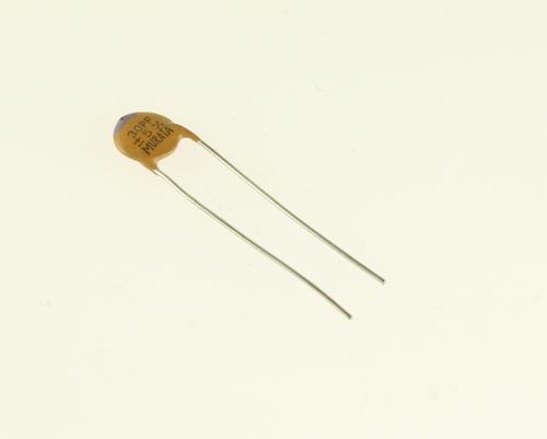 Picture of CD300J500V33 MURATA capacitor 30pF 500V Ceramic Disc