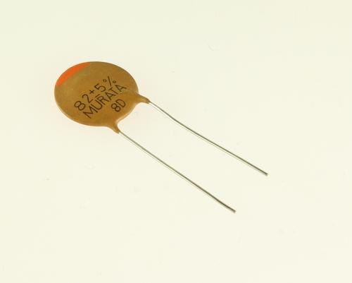 Picture of CD820J500V7 MURATA capacitor 82pF 500V Ceramic Disc