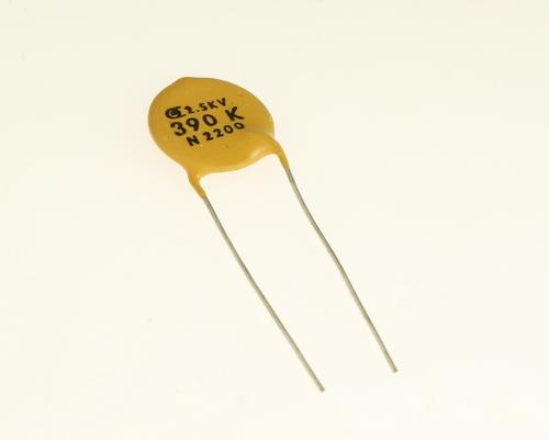 Picture of CD391K2.5KV.76N2200 DIELECTRON capacitor 390pF 2500V Ceramic Disc