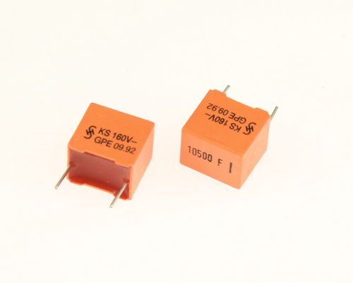 Picture of B31521-B1103-F500 SIEMENS capacitor 0.0105uF 160V Film Metallized Polyester Radial