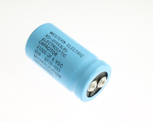Picture of KS-20443L85 BYAB capacitor 21,000uF 6V Aluminum Electrolytic Large Can Computer Grade