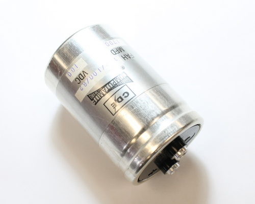Picture of FAH172-100-B2 CDE capacitor 1,700uF 100V Aluminum Electrolytic Large Can Computer Grade