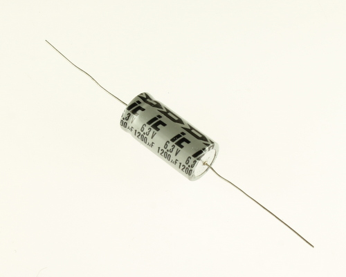 Picture of 128TTA6R3A ILLINOIS CAPACITOR capacitor 1,200uF 6.3V Aluminum Electrolytic Axial