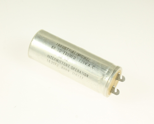 Picture of 11B117MS INDUSTRIAL MIDWEC capacitor 88uF 125V Application Motor Start