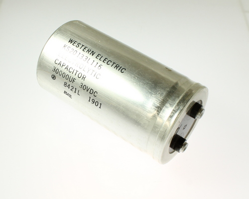 Picture of CGE303M30W4LHP SPRAGUE-WESTERN ELECTRIC capacitor 30,000uF 30V Aluminum Electrolytic Large Can Computer Grade