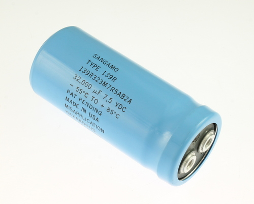Picture of 139R323M7R5AB2A SANGAMO-CDE capacitor 32,000uF 7.5V Aluminum Electrolytic Large Can Computer Grade
